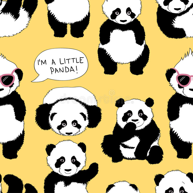 I'm a little panda royalty free illustration