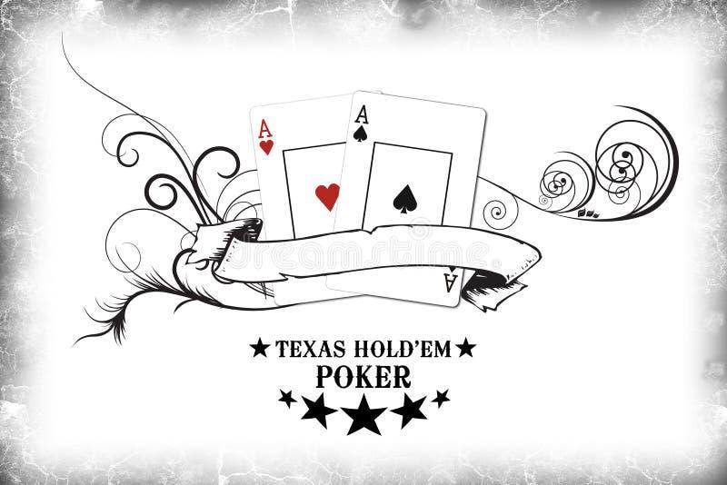i m pokera. ilustracja wektor