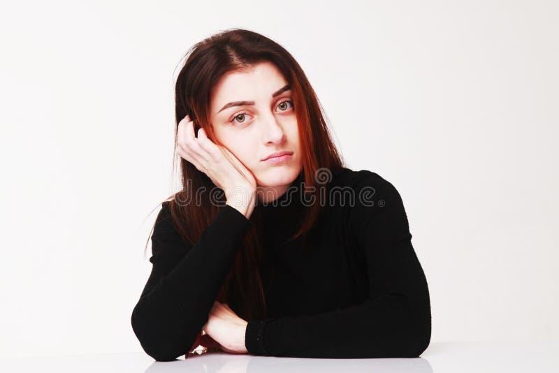 I ` M som väntar på en svarspsykologi, kroppsspråk, gör en gest royaltyfria bilder