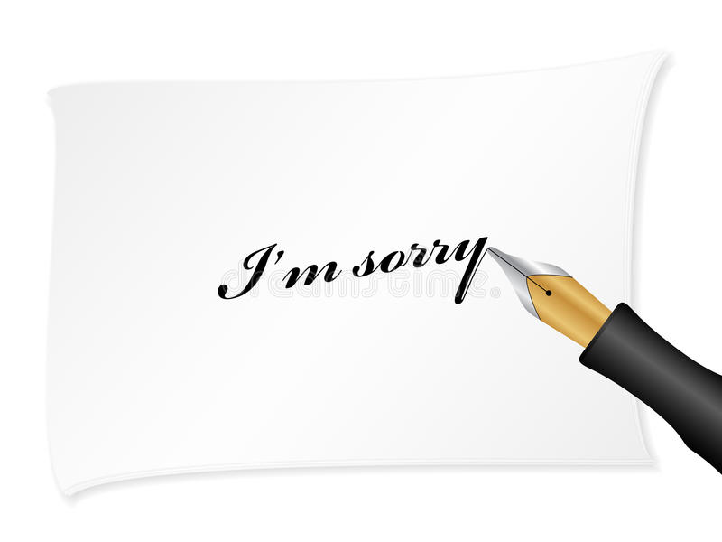 Download I'm sorry stock vector. Image of message, communication - 11847539