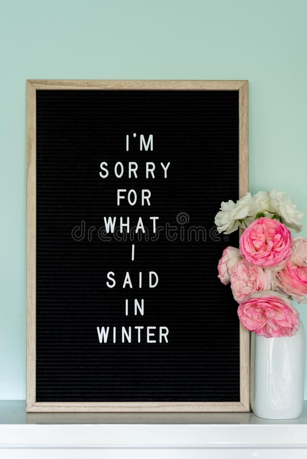 I`m sorry sign stock images