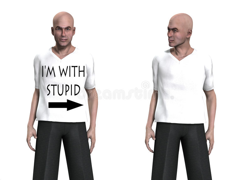 Download I'm With Stupid stock illustration. Illustration of body - 3567900
