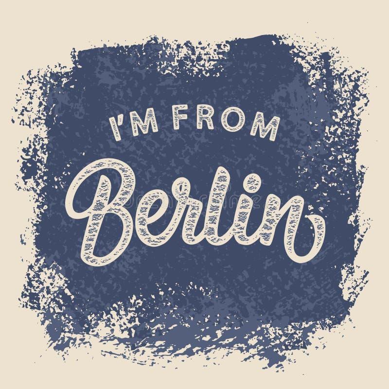 I ` m van het ontwerp van de de T-shirtdruk van Berlijn royalty-vrije illustratie