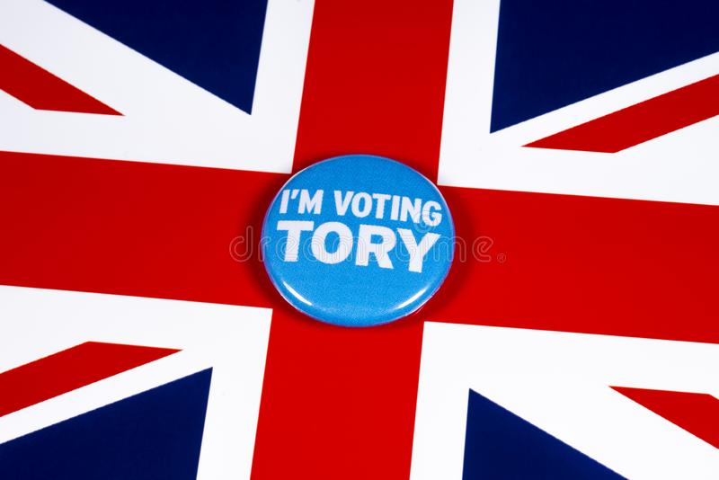 I`m Voting Tory royalty free stock images