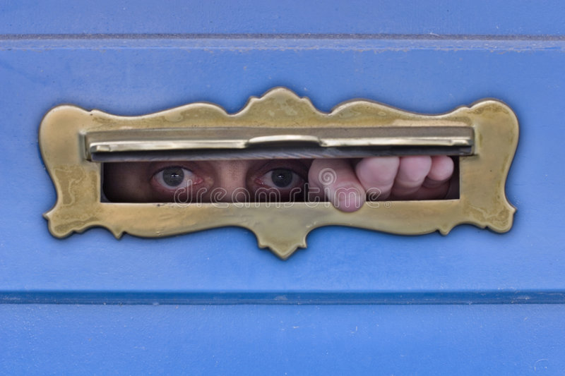 I´m watching you royalty free stock photos