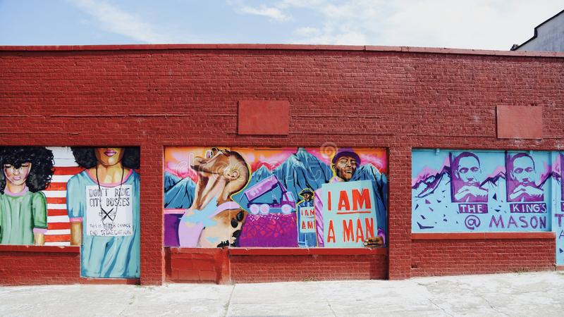 I Am A Man Civil Rights Street Painting royalty free stock photos