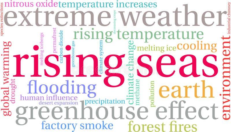 I mari aumentanti esprimono la nuvola illustrazione di stock