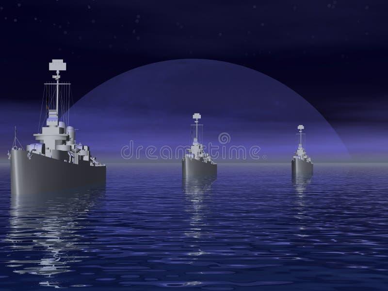 I mari del sud durante la guerra mondiale 2. immagine stock