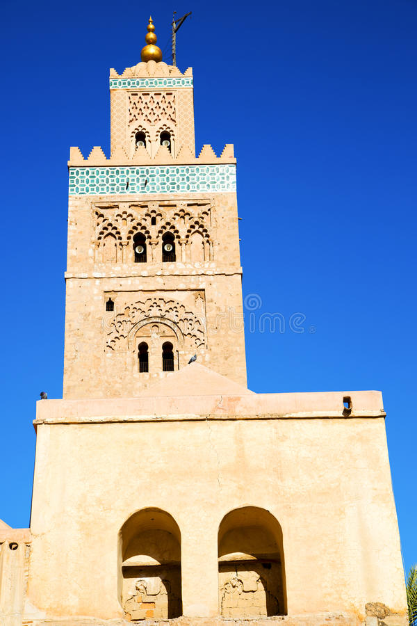 i maroc africa och den blåa himlen arkivbilder