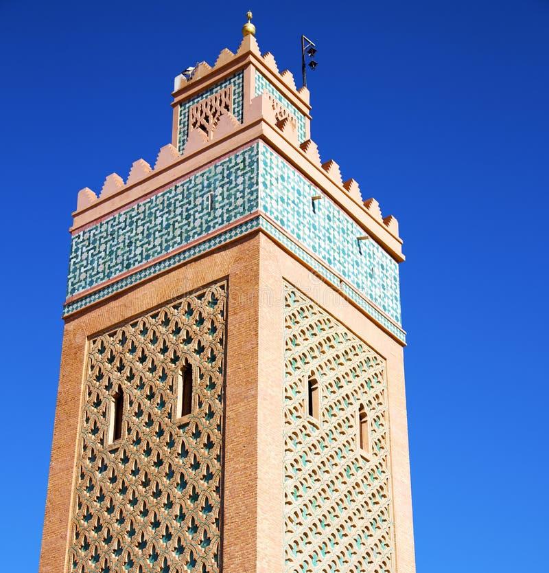 i maroc africa och den blåa himlen royaltyfri foto
