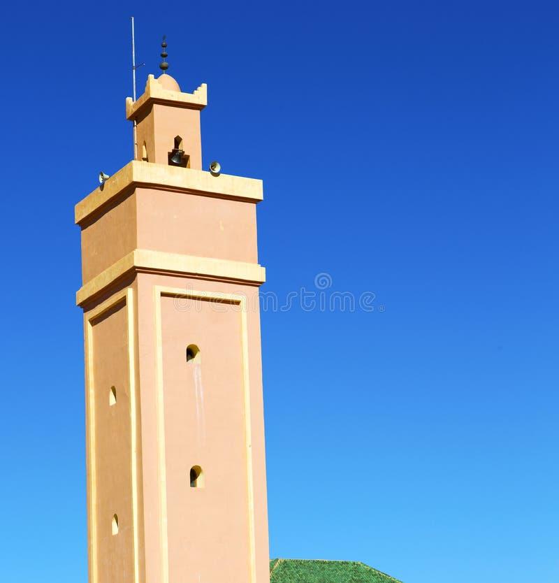 i maroc africa och den blåa himlen arkivfoton