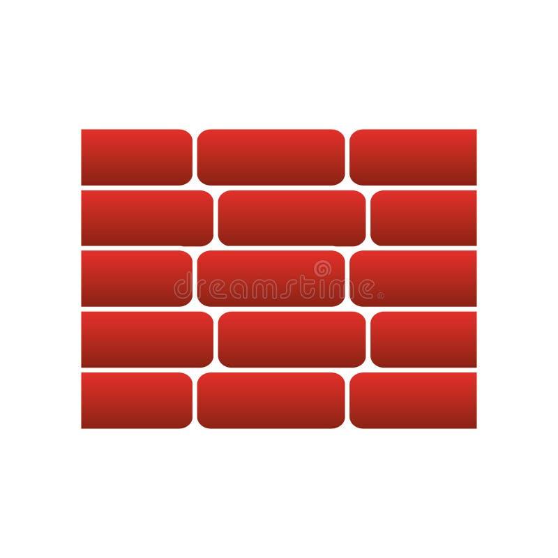 i mattoni della parete hanno isolato l'icona illustrazione di stock