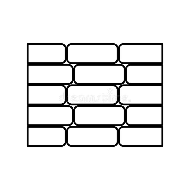 i mattoni della parete hanno isolato l'icona royalty illustrazione gratis