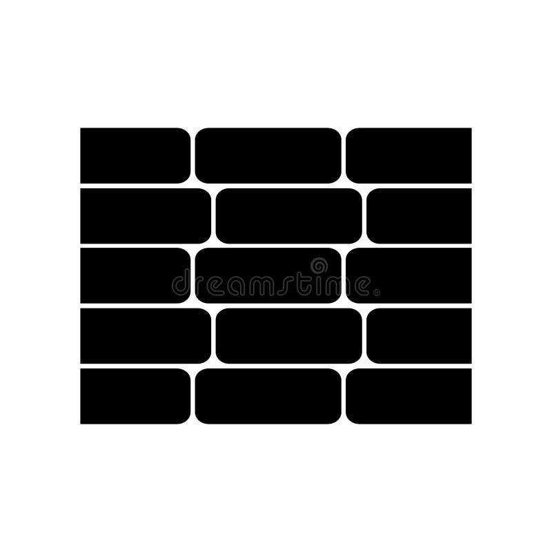 i mattoni della parete hanno isolato l'icona illustrazione vettoriale