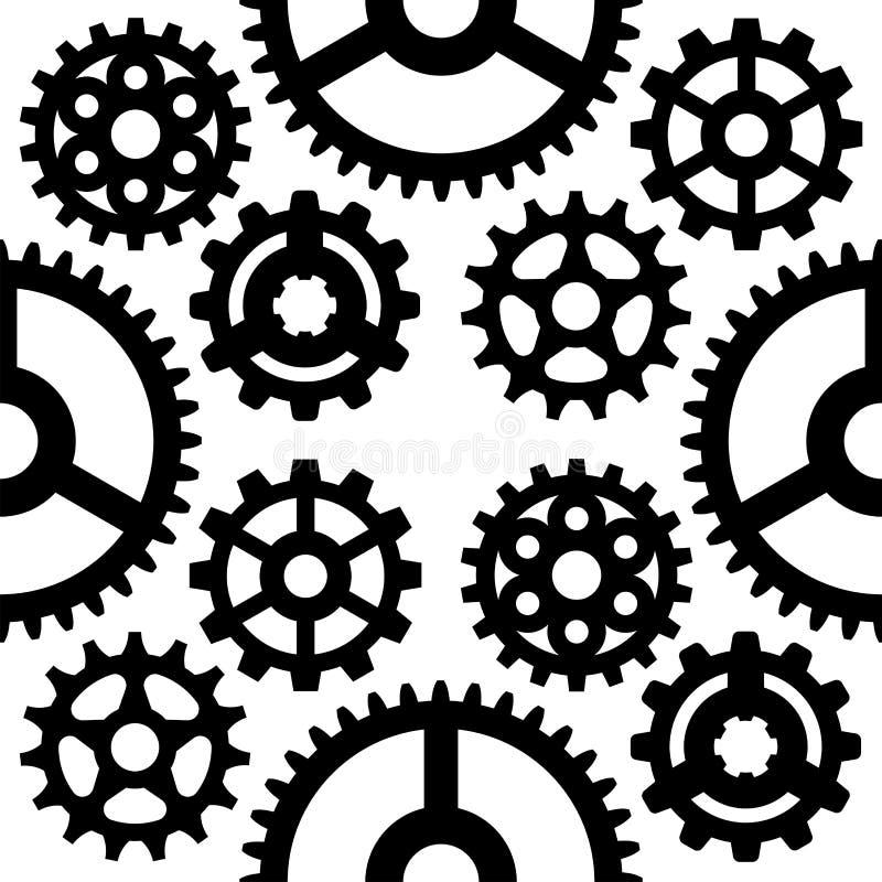 I meccanici dell'illustrazione di vettore dell'ingranaggio che innestano la forma dello sviluppo di web lavorano il macchinario d illustrazione di stock