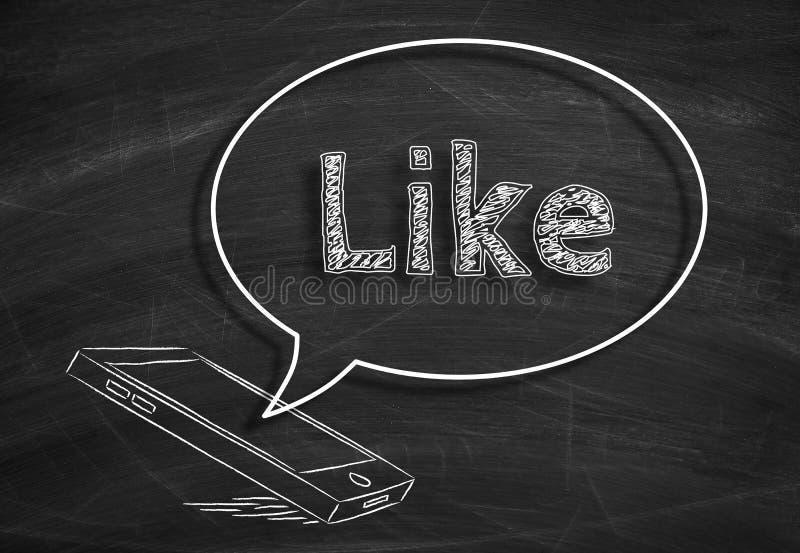 I media sociali gradiscono fotografie stock libere da diritti