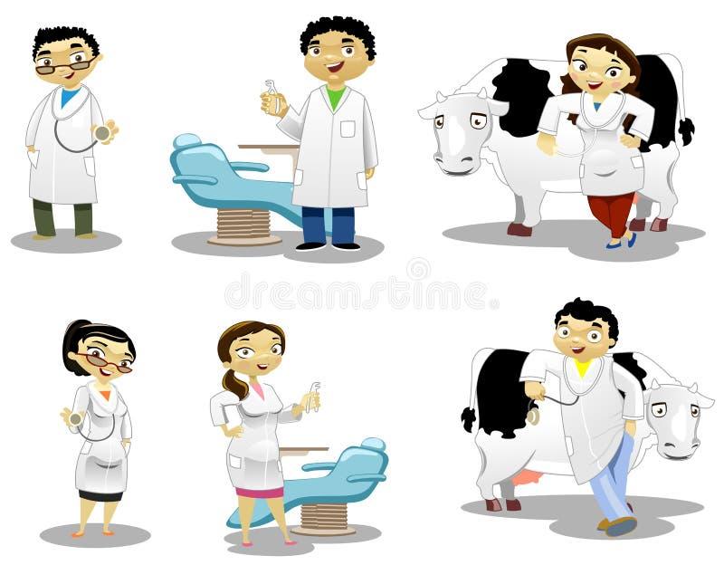 I medici illustrazione vettoriale