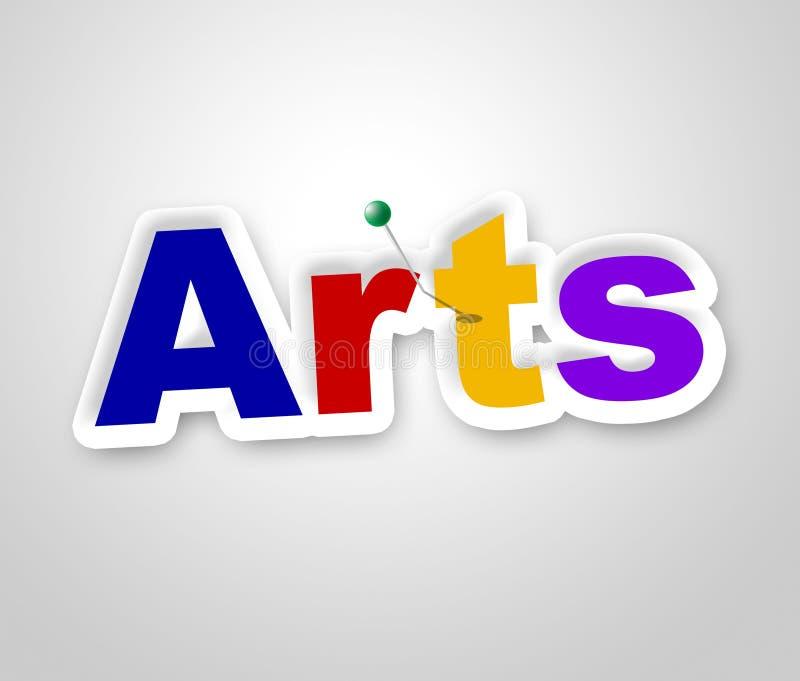 I mezzi del segno di arti progettano artistico ed il mestiere illustrazione di stock