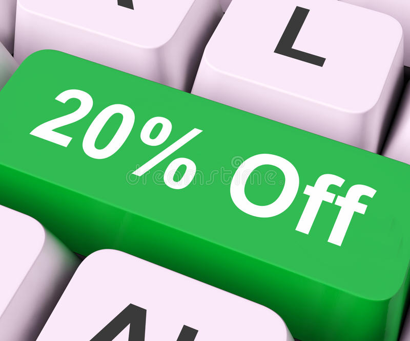I mezzi stonati sconto o vendita di venti per cento illustrazione di stock