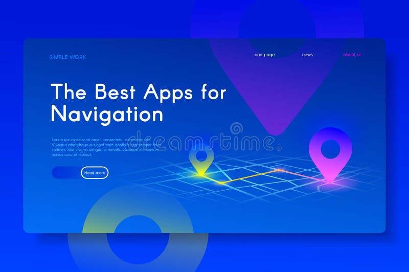 I migliori Apps per navigazione Isometrico moderno fotografie stock