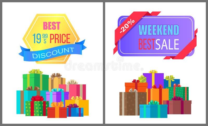 I migliori 19 Speciale di vendita di fine settimana di sconto di 99 prezzi illustrazione di stock