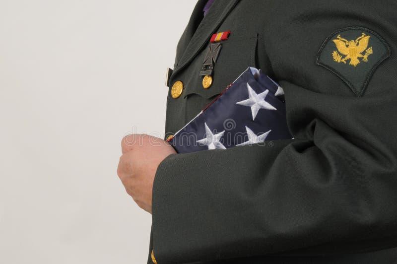 I militari onorano fotografie stock