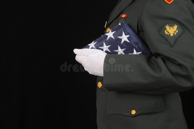 I militari onorano immagini stock libere da diritti