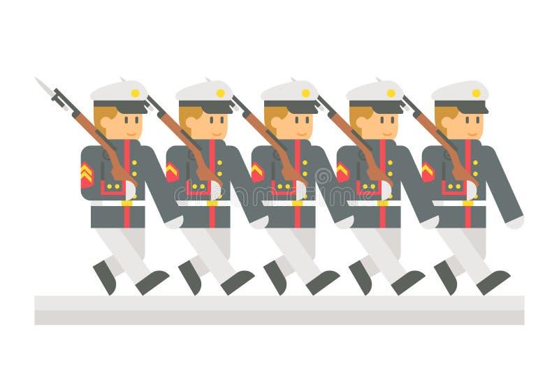 I militari piani di progettazione sfoggiano illustrazione di stock