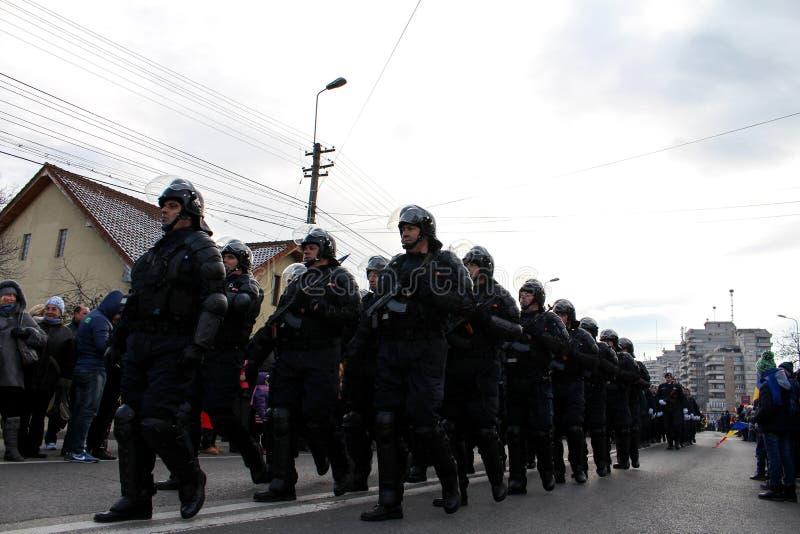 I militari rumeni di festa nazionale sfoggiano fotografia stock