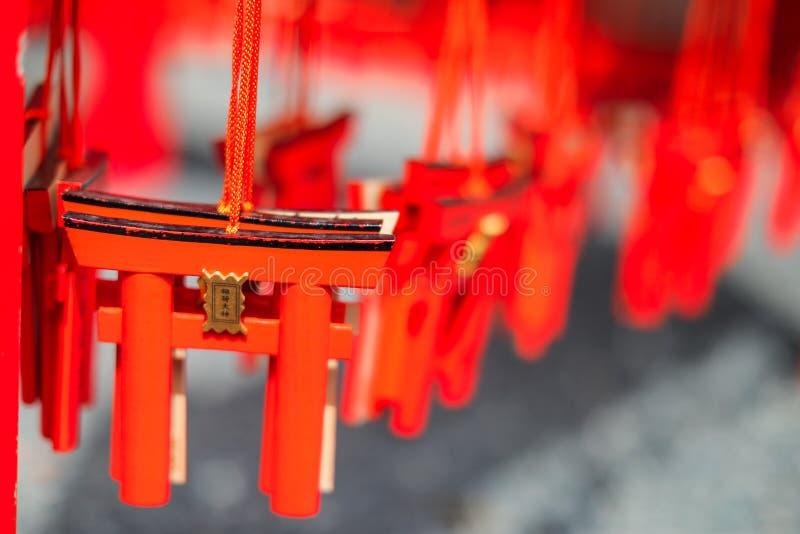 I mini ricordi del portone di torii a Fushimi Inari Taisha shrine immagine stock