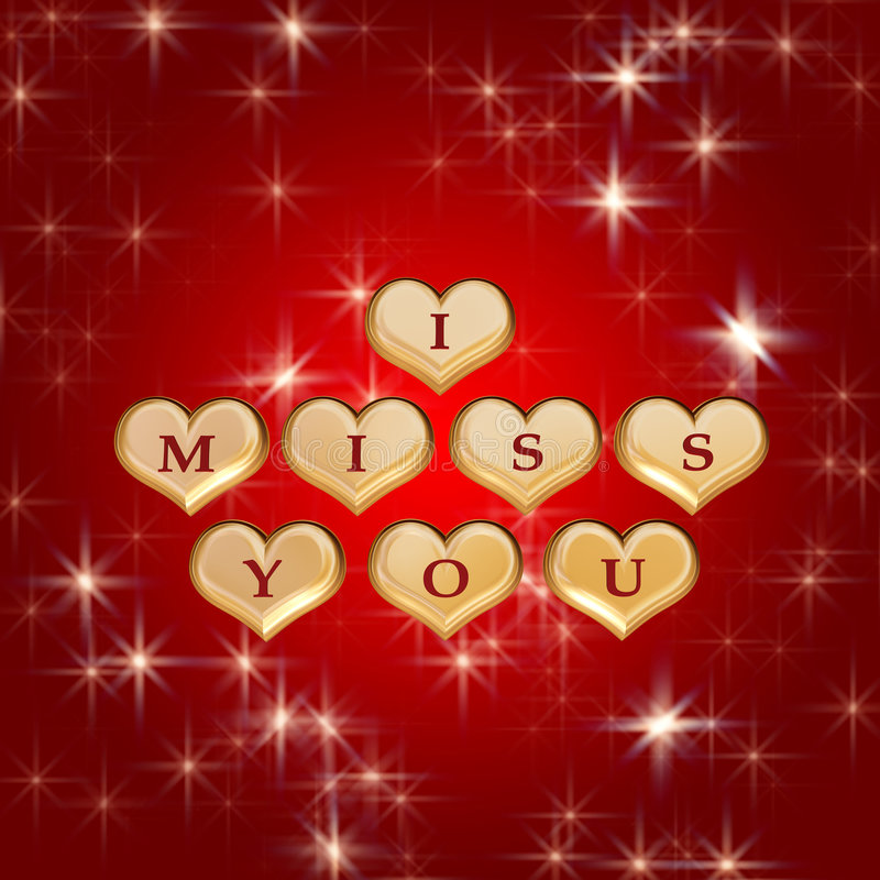 Download I miss you 3 stock illustration. Image of hearts, lovely - 4172382