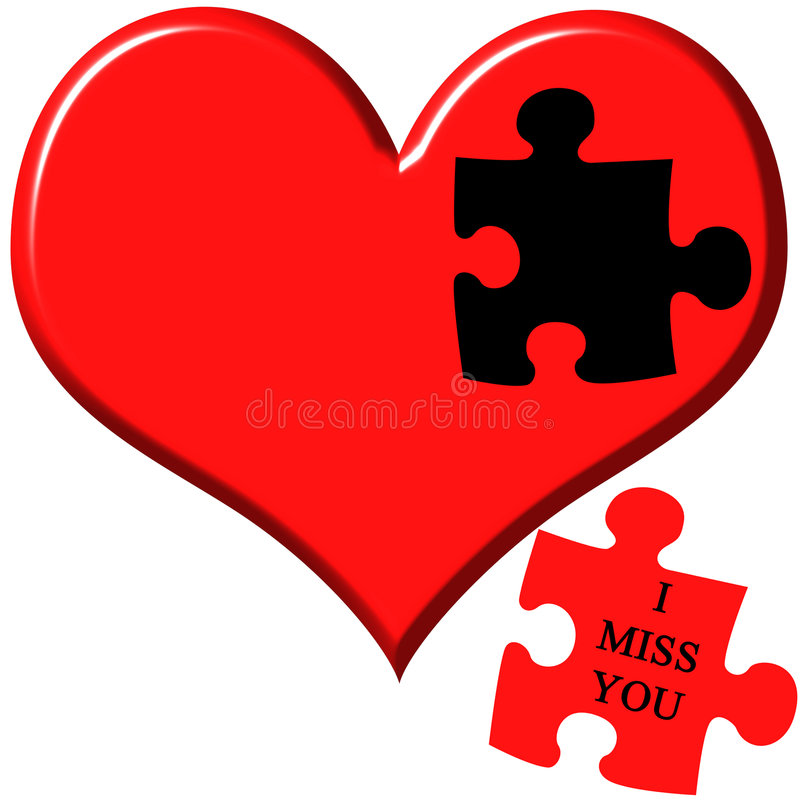 I miss you stock illustration