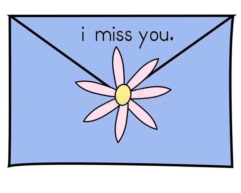 Download I miss you blue stock illustration. Illustration of artwork - 534421