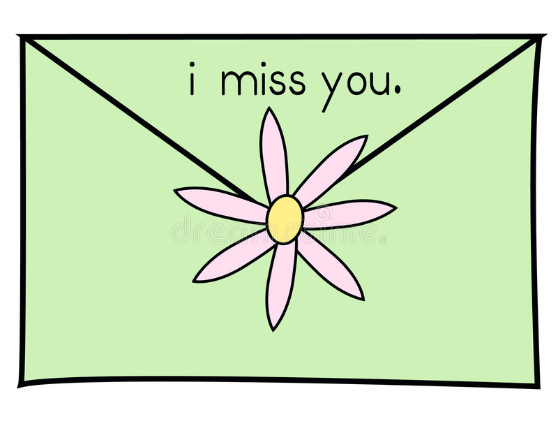 I Miss You Green Royalty Free Stock Photos
