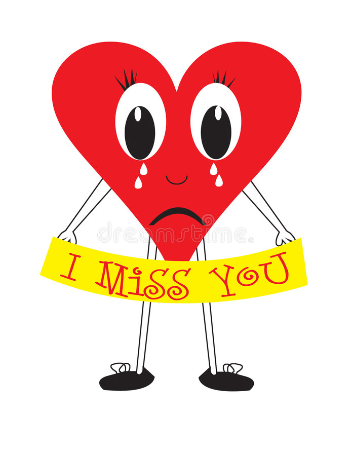 I miss you heart royalty free illustration