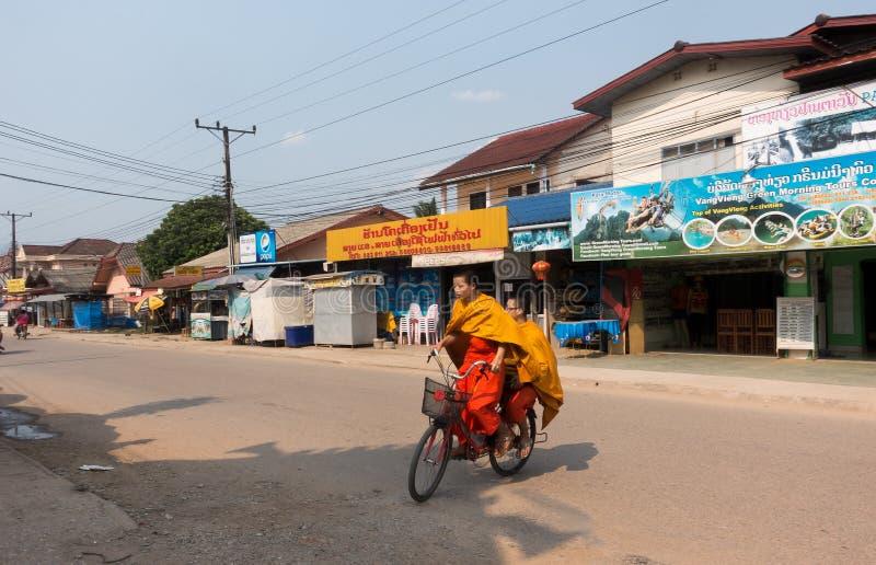 I monaci del Laos immagini stock libere da diritti