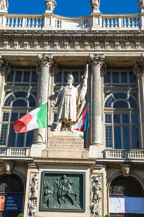I monumenti alle truppe della Sardegna a Torino immagine stock libera da diritti