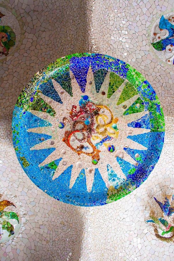 I mosaici nell'auna del ¼ del gà del parco immagine stock