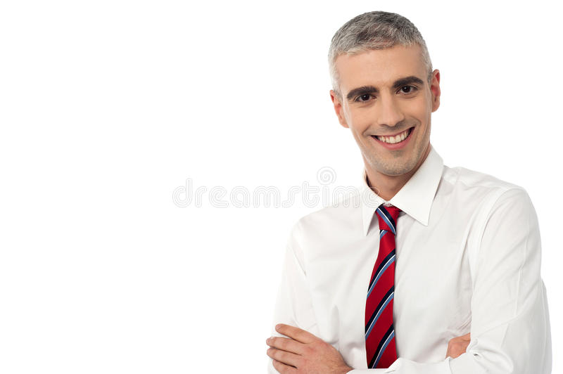 I am the new manager here ! stock images