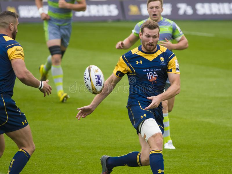 I Newcastle Falcons e Worcester Warriors fotografia stock