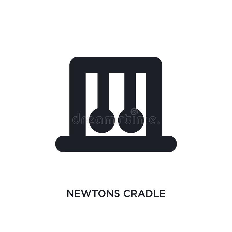 i Newton cullano l'icona isolata illustrazione semplice dell'elemento dalle icone di concetto del museo i Newton cullano il simbo illustrazione vettoriale