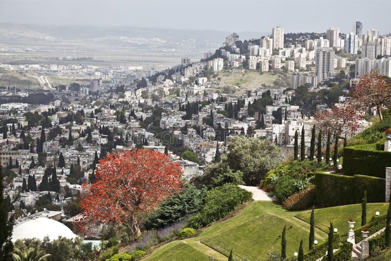 Bahai trädgårdar, Haifa, Israel arkivbild