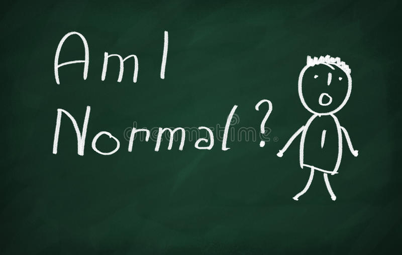 Am I Normal royalty free illustration