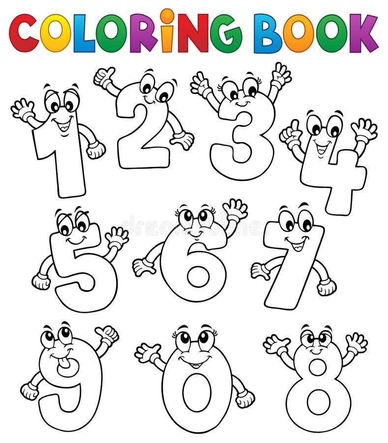 I numeri del fumetto del libro da colorare hanno messo 2 illustrazione di stock