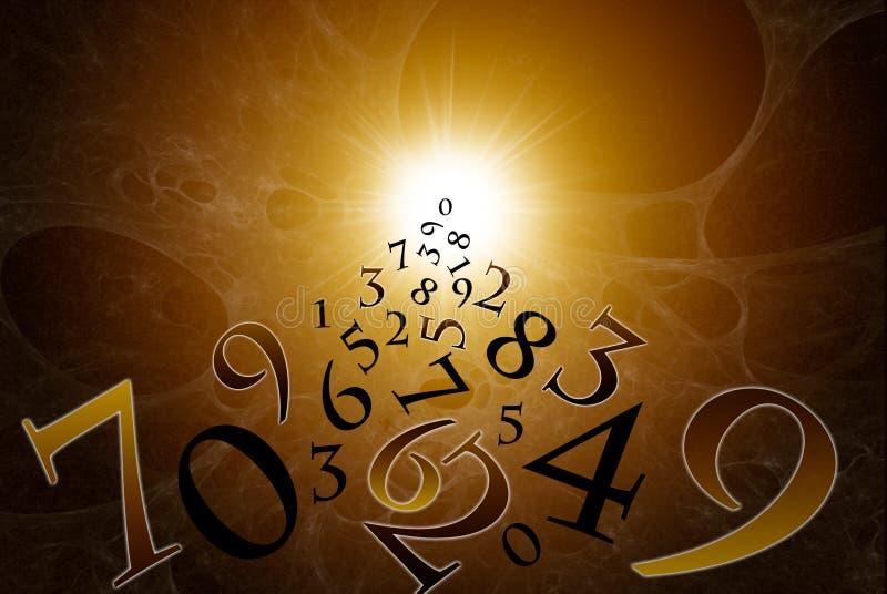 I numeri magici illustrazione di stock