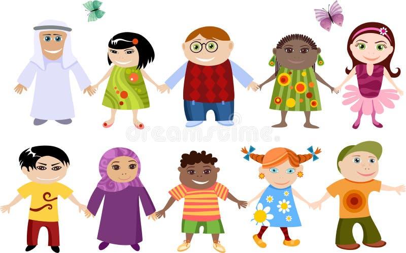 I nuovi bambini hanno impostato illustrazione vettoriale