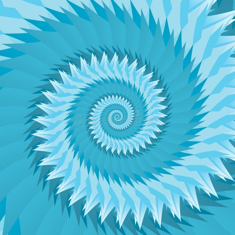 In i oändlighetsgeometri Abstrakt geometrisk koncentrisk virvelbakgrund Havsskal som strukturer vektor illustrationer