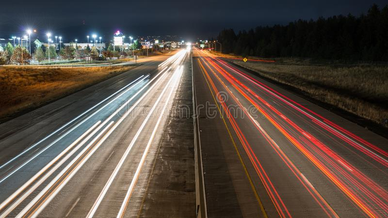 I-90 Oost-Spokane Washington stock fotografie