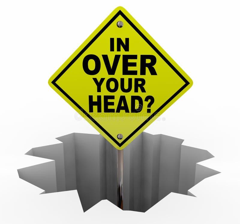 I Over förkrossade ditt Head teckenhål för mycket arbete 3d Illustr stock illustrationer