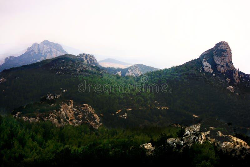 I paesaggi della montagna di Kantara, Turchia fotografia stock